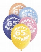 65th Birthday Helium Balloons
