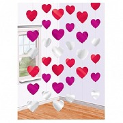 6 String Of Hearts Decorations