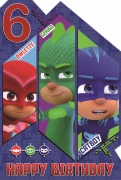 6 Today PJ Masks Card