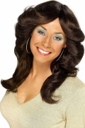 70s Flick Brown Wig