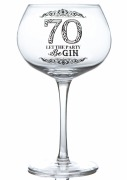 70th Gin Glass