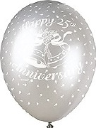 25th Anniversary Balloons