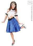 Rock and Roll Blue Skirt