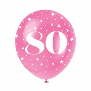 80th Birthday Helium Balloons