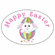 8Pk Easter Bunny Labels