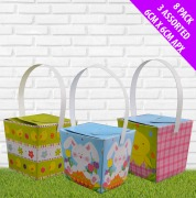 8Pk Mini Easter Baskets
