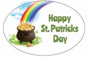 8Pk St Patrick's Day Labels