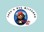 8Pk Paddington Bear Labels