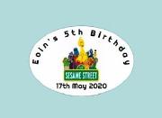 8Pk Sesame Street Labels