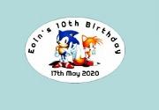 8Pk Sonic Bag Labels