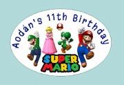 8Pk Super Mario Labels