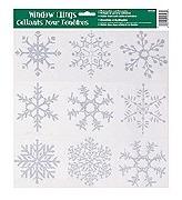 Glitter Snowflake Widow Clings