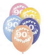 90th Birthday Helium Balloons