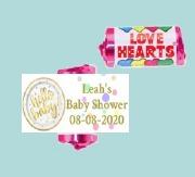 9Pk Hello Baby Lovehearts