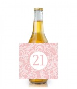 6PK Pink Age Beer Labels
