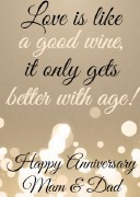 4PK Anniversary Wine Labels