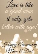 4PK Anniversary Wine Labels