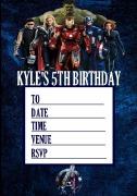 Personalised Avengers Invites