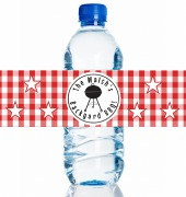 4PK BBQ Water Bottle Labels