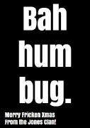 4Pk Bah Hum Bug Wine Labels