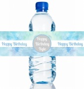 4PK Birthday Boy Bottle Labels