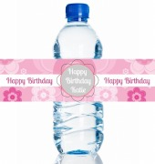 4PK Birthday Girl Bottle Label