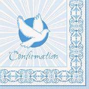 Blue Confirmation Napkins