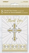 Gold Cross Thank You Cards