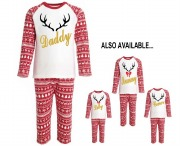 Personalised Mens Reindeer PJs