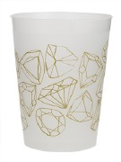 Diamond Print Cups
