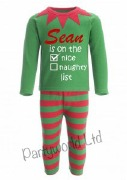Personalised Elf Pyjamas