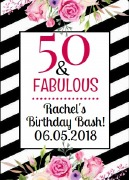 4PK Fabulous Bday Wine Labels