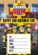 Personalise Fireman Sam Invite