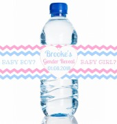 4PK Gender Reveal Bottle Label