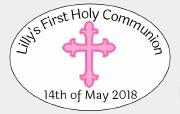 8PK Girls Communion Label