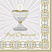 Gold Cross Communion Napkins