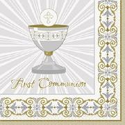 Gold Cross Communion Napkins
