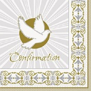 Gold Cross Confirmation Napkin