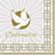 Gold Cross Confirmation Napkin