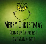 6Pk Grinch Beer Labels