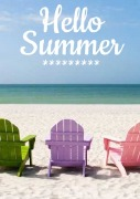 4PK Hello Summer Wine Labels