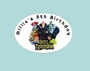8Pk Hotel Transylvania Labels