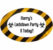 8PK Lockdown Birthday Lablels