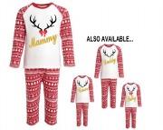 Personalise Ladies Reindeer PJ