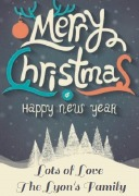 4Pk Merry Christmas Labels