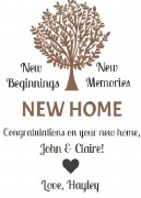 4PK New Home Wine Labels