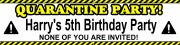 Quarantine Personalised Banner