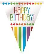 Rainbow Birthday Bunting