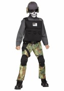 Skull Soldier Costume