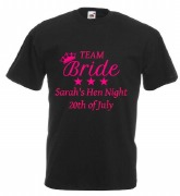 Team Bride Black T-Shirt